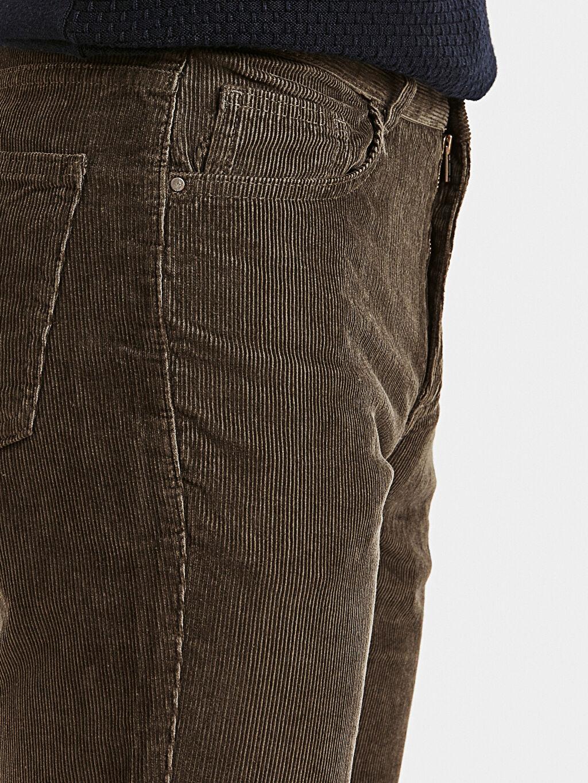 %100 Pamuk Normal Kalıp Kadife Chino Pantolon