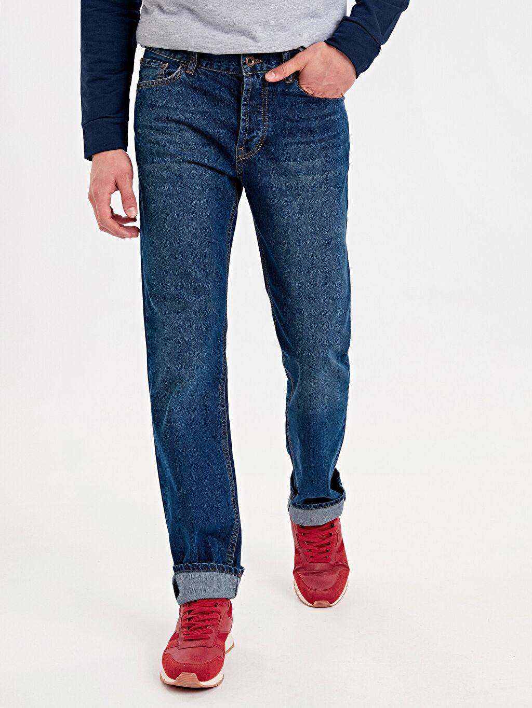 %100 Pamuk Rahat Normal Bel Jean 790 Rahat Kalıp Jean Pantolon