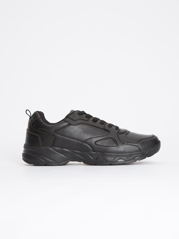 Siyah Erkek Kalın Taban Bağcıklı Ayakkabı 8WN874Z8 LC Waikiki