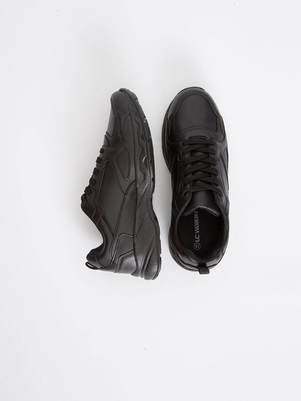 Diğer malzeme (pvc) Ayakkabı Erkek Kalın Taban Bağcıklı Ayakkabı