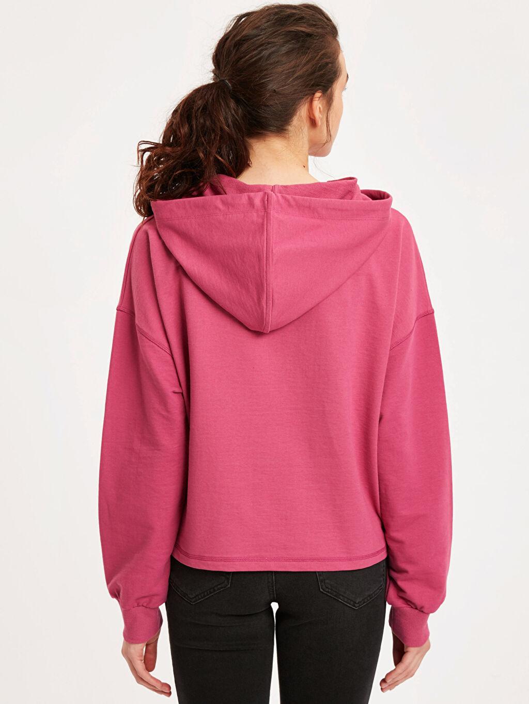 %49 Pamuk %51 Polyester  Kapüşonlu Sweatshirt
