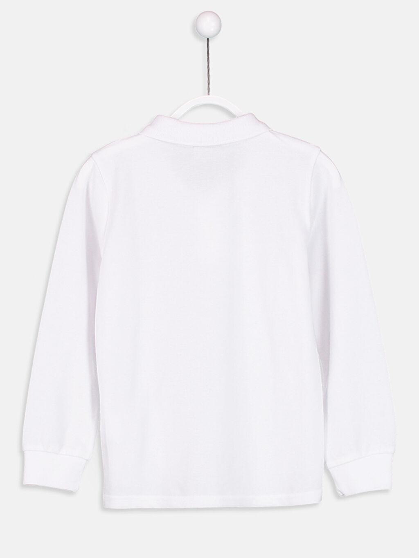 %100 Pamuk Standart Tişört Pike Polo Yaka Düz Uzun Kollu Polo Yaka Tişört