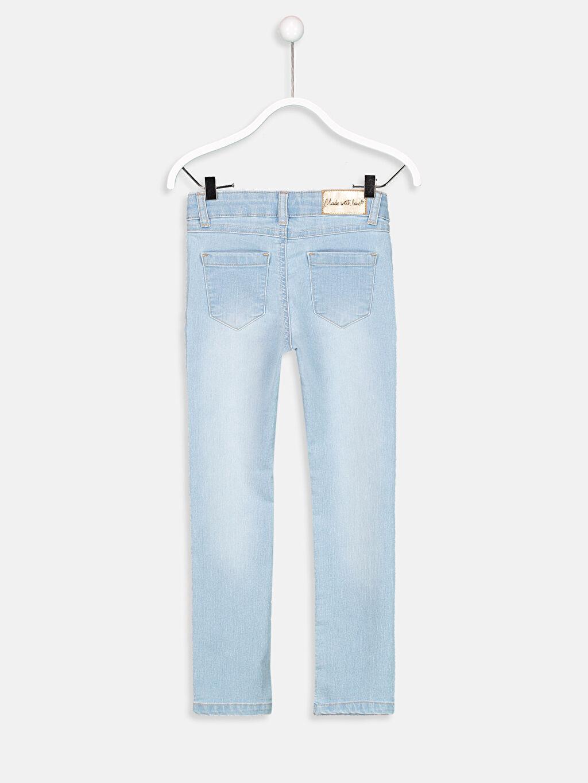 %76 Pamuk %22 Polyester %2 Elastan Normal Bel Astarsız Dar Jean Düz Dar Paça Aksesuarsız Slim Jean Pantolon