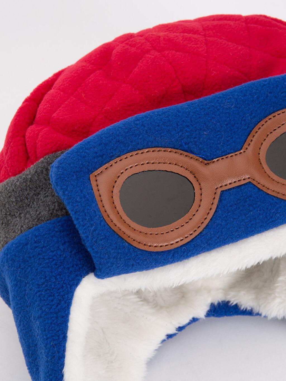 %100 Polyester %100 Polyester  Erkek Çocuk Polar Şapka