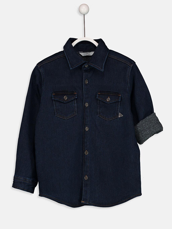 İndigo Uzun Kollu Jean Gömlek 8W3868Z4 LC Waikiki