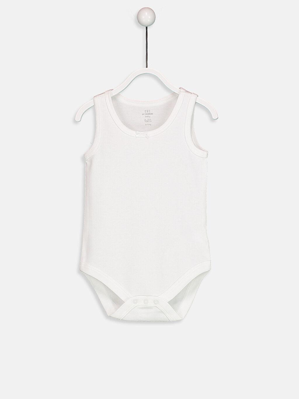 %100 Pamuk Ribana Çıtçıtlı Body Kız Bebek Çıtçıtlı Body 2'li