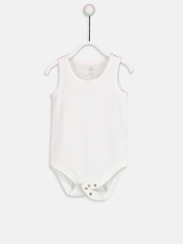 Beyaz Kız Bebek Çıtçıtlı Body 2'li