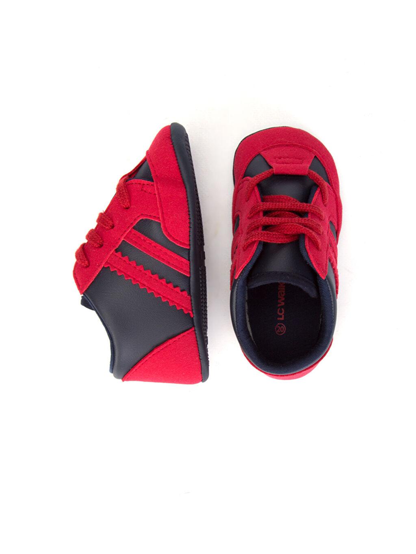 Diğer malzeme (poliüretan) Tekstil malzemeleri Günlük Kısa Bağcık Yürümeyen Erkek Bebek ilk Adım Ayakkabısı