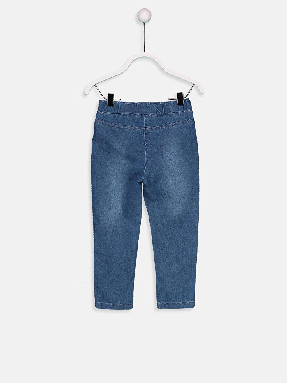 %69 Pamuk %29 Polyester %2 Elastan Normal Bel Astarsız Jean Düz Standart Standart Kız Bebek Jean Pantolon