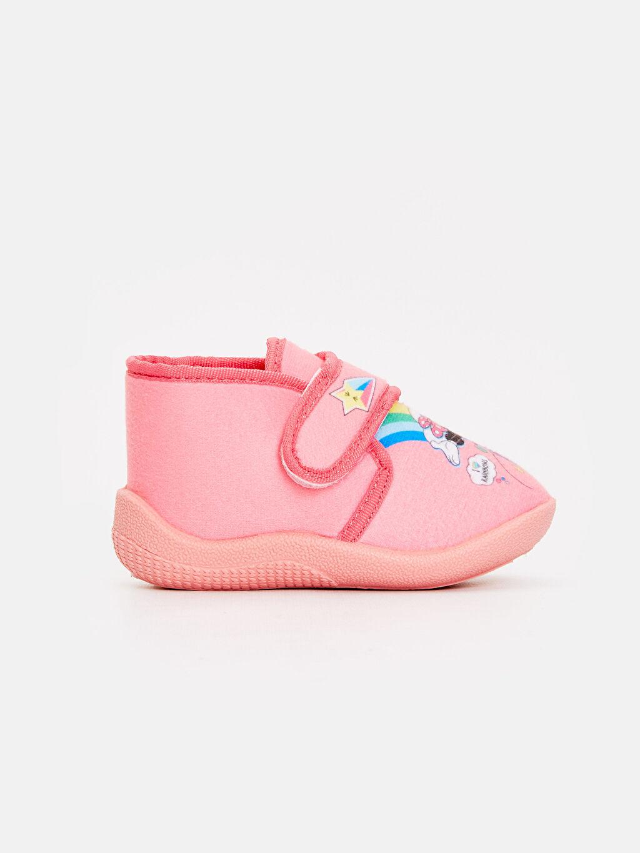 Pembe Kız Bebek Minnie Mouse Desenli Ev Ayakkabısı 8WN975Z1 LC Waikiki