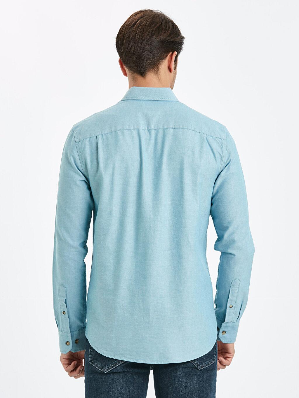 %100 Pamuk Normal Düz Uzun Kol Gömlek Düğmeli Regular Fit Uzun Kollu Oxford Gömlek
