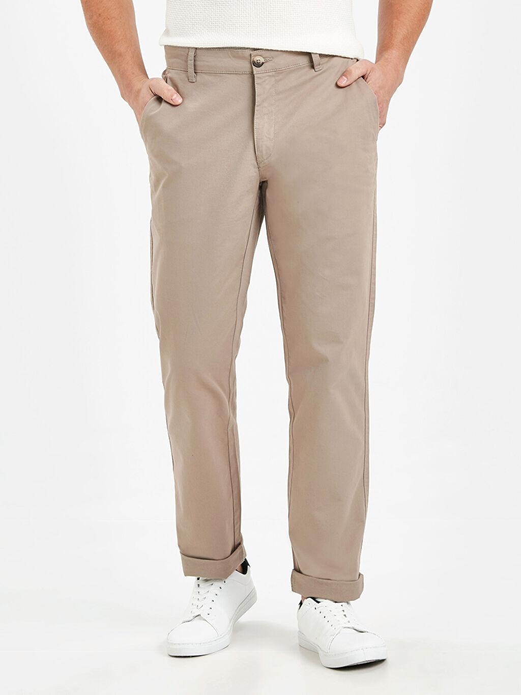 %97 Pamuk %3 Elastan  Normal Kalıp Chino Pantolon