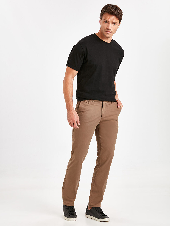 Kahverengi Normal Kalıp Chino Pantolon 9S1103Z8 LC Waikiki