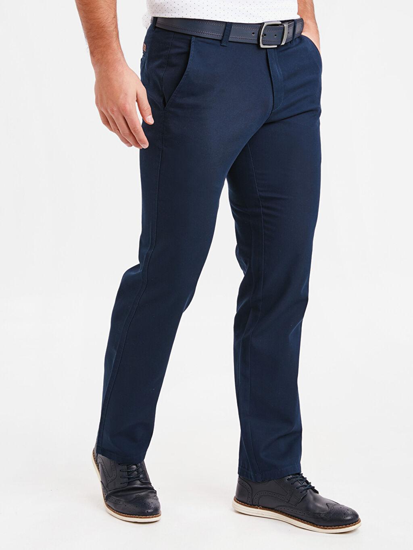 %100 Pamuk Gabardin Chino Pantolon Standart Normal Kalıp Gabardin Chino Pantolon