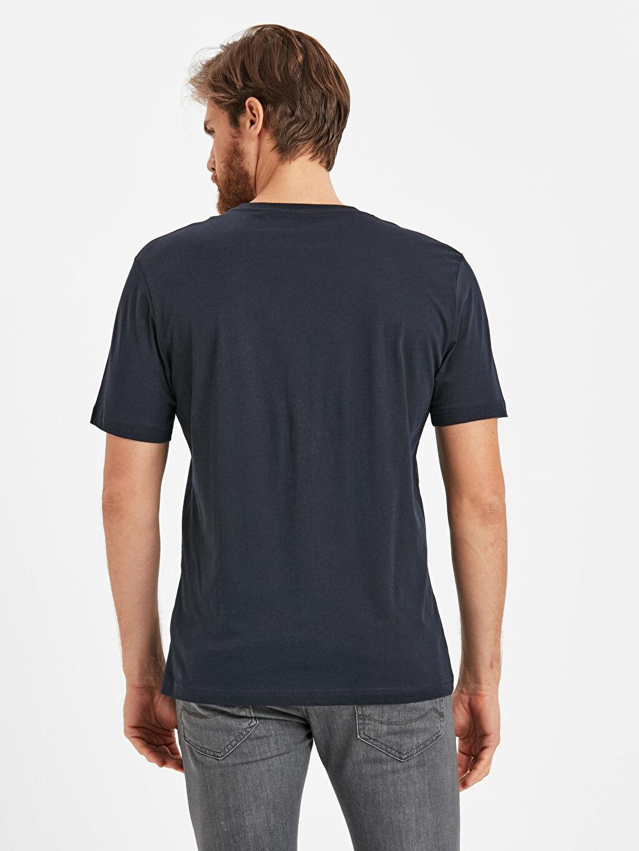%100 Pamuk Düz Standart Kısa Kol Tişört Bisiklet Yaka Bisiklet Yaka Basic Tişört