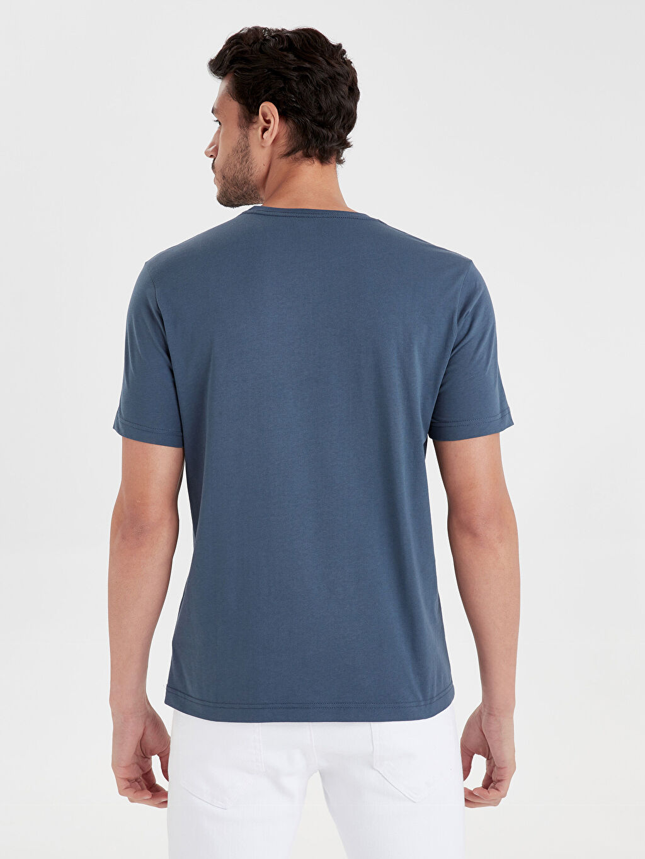 %100 Pamuk Süprem Standart Tişört Bisiklet Yaka Kısa Kol Düz Bisiklet Yaka Basic Tişört