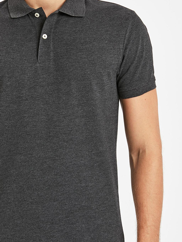 %53 Pamuk %47 Polyester Polo Yaka Kısa Kollu Pike Basic Tişört