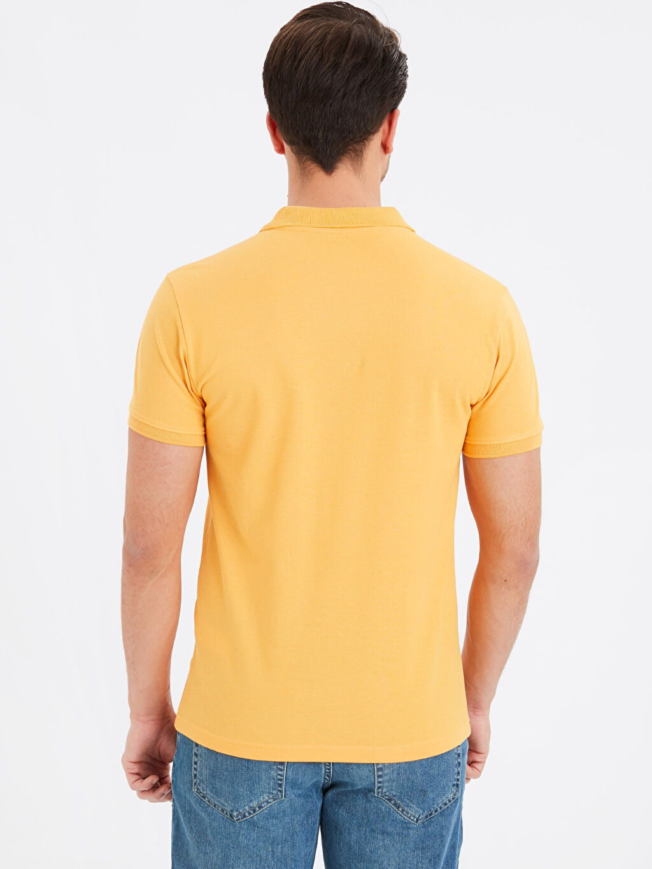 %100 Pamuk Standart Tişört Pike Polo Yaka Kısa Kol Düz Polo Yaka Kısa Kollu Pike Basic Tişört