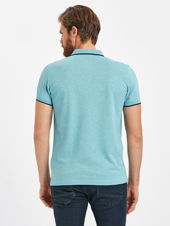 %51 Pamuk %49 Polyester Standart Tişört Pike Polo Yaka Kısa Kol Düz Polo Yaka Kısa Kollu Pike Tişört