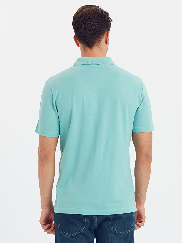 %100 Pamuk Standart Baskılı Tişört Pike Polo Yaka Kısa Kol Polo Yaka Kısa Kollu Pike Tişört