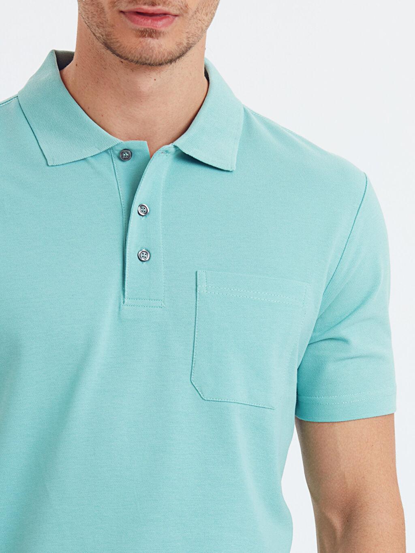 %100 Pamuk Polo Yaka Kısa Kollu Pike Tişört