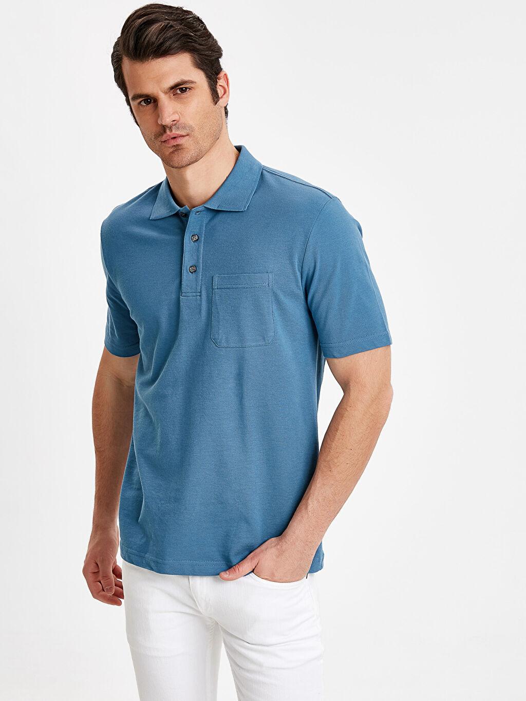 %100 Pamuk Baskılı Standart Kısa Kol Tişört Polo Polo Yaka Kısa Kollu Pike Tişört