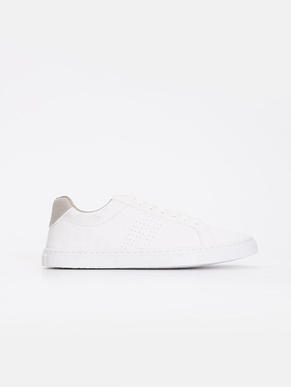 Beyaz Erkek Beyaz Bağcıklı Spor Ayakkabı 9S2636Z8 LC Waikiki