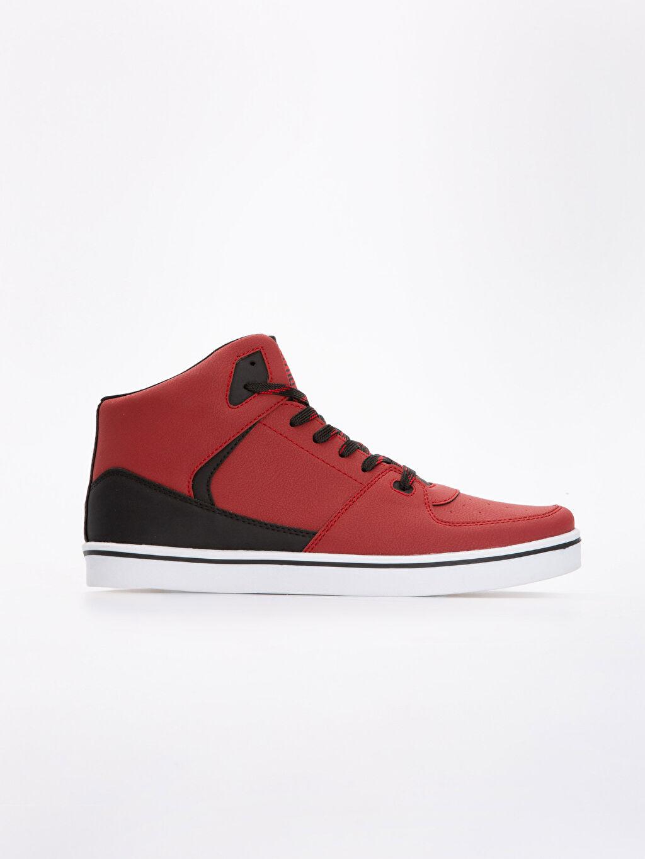 Kırmızı Erkek Bağcıklı Günlük Spor Ayakkabı 9S2687Z8 LC Waikiki