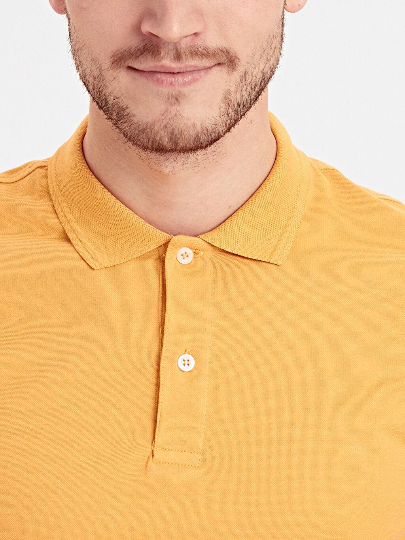 %94 Pamuk %6 Elastan Polo Yaka Kısa Kollu Pike Tişört