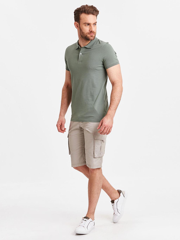 Erkek Polo Yaka Kısa Kollu Pike Tişört