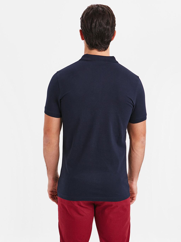%94 Pamuk %6 Elastan Standart Tişört Pike Polo Yaka Kısa Kol Düz Polo Yaka Kısa Kollu Pike Tişört