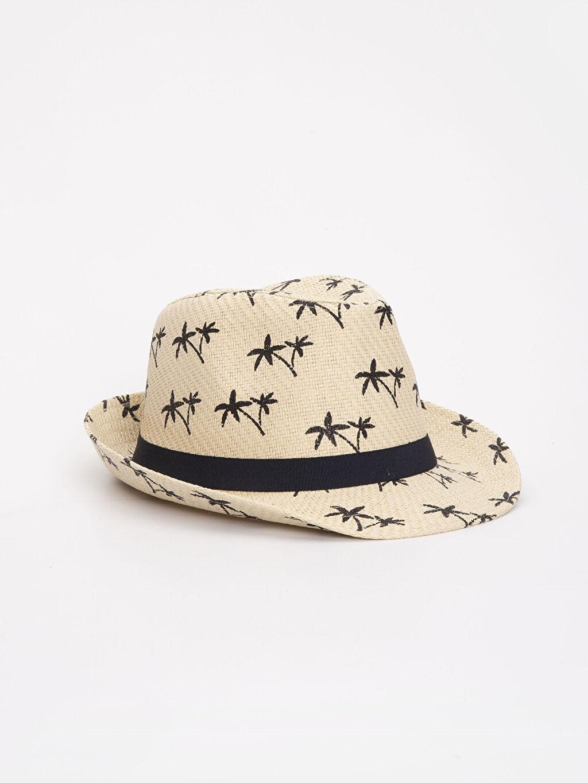 Erkek Aile Koleksiyonu Baskılı Hasır Şapka