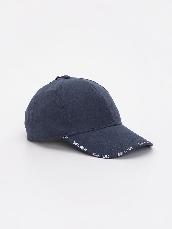 Lacivert Slogan Yazı Baskılı Şapka 9S4466Z8 LC Waikiki
