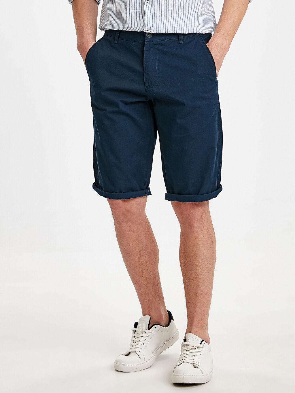 %100 Pamuk %35 Pamuk %65 Polyester Şort Regular Fit Bermuda Şort