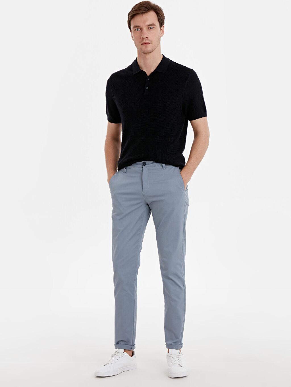 Mavi Dar Kalıp Gabardin Chino Pantolon 9S6693Z8 LC Waikiki