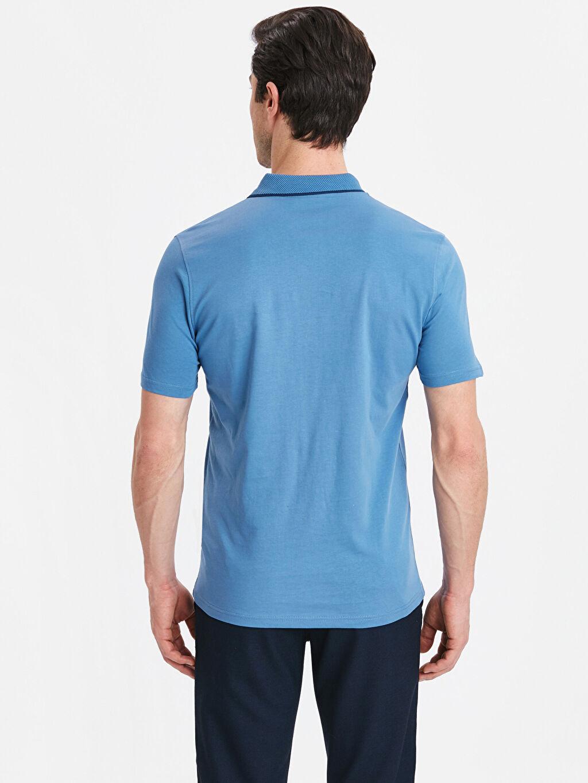 %100 Pamuk Düz Standart Kısa Kol Tişört Polo Polo Yaka Kısa Kollu Pamuklu Tişört