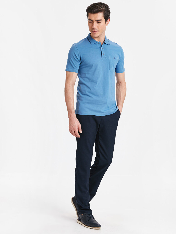 Erkek Polo Yaka Kısa Kollu Pamuklu Tişört