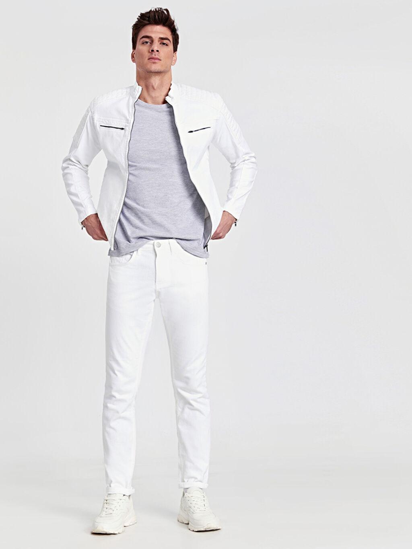 Beyaz 750 Slim Fit Jean Pantolon 9S8642Z8 LC Waikiki