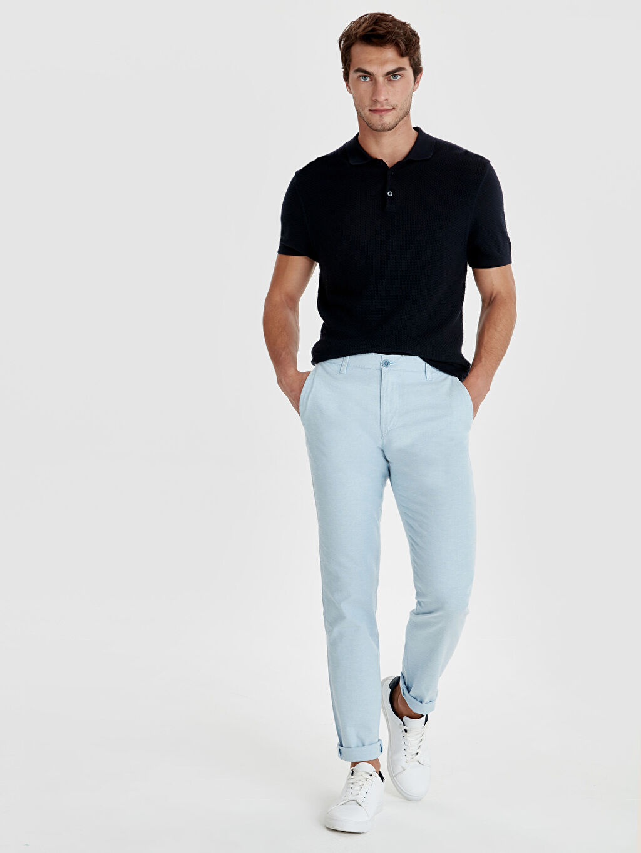 Mavi Slim Fit Armürlü Pantolon 9S8993Z8 LC Waikiki
