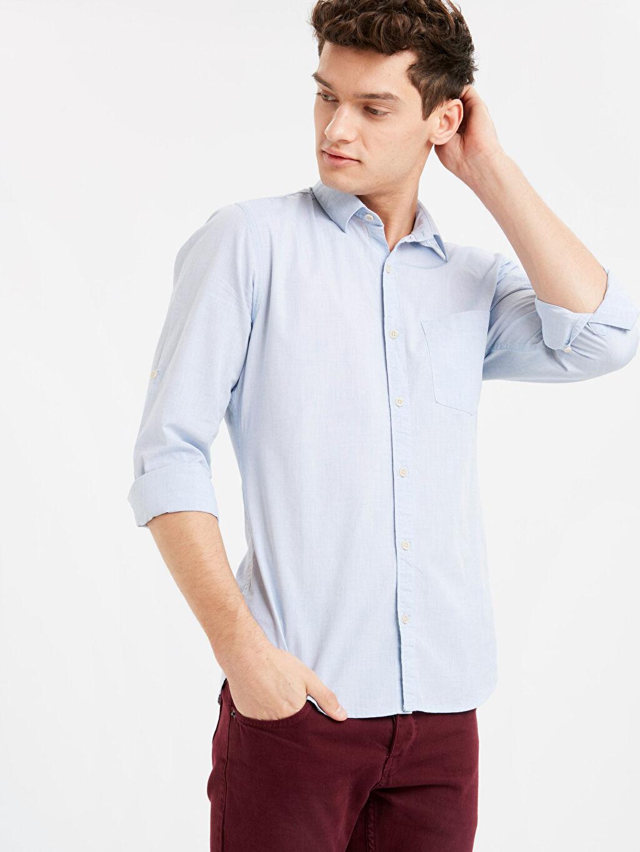 Mavi Extra Slim Fit Uzun Kollu Filafil Gömlek 9S9118Z8 LC Waikiki