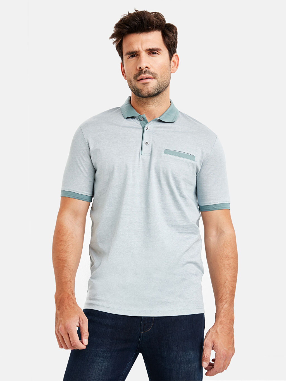 %100 Pamuk Süprem Standart Baskılı Tişört Polo Yaka Kısa Kol Polo Yaka Kısa Kollu Merserize Tişört