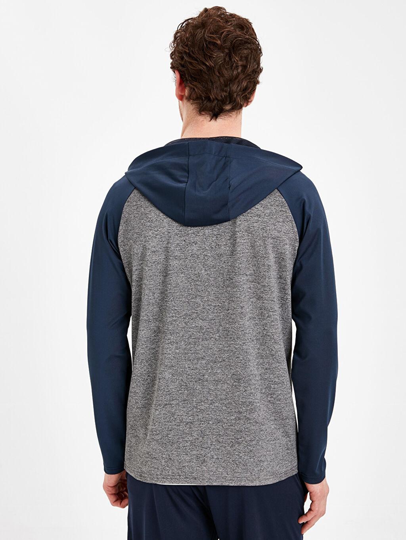 %92 Polyester %8 Elastan  Kapüşonlu Aktif Spor Sweatshirt