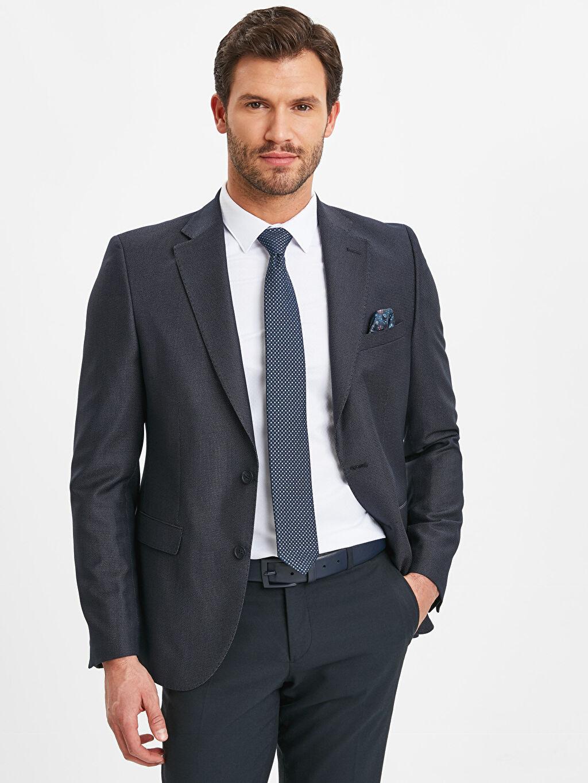 Lacivert Dar Kalıp Takım Elbise Ceketi 9SK141Z8 LC Waikiki