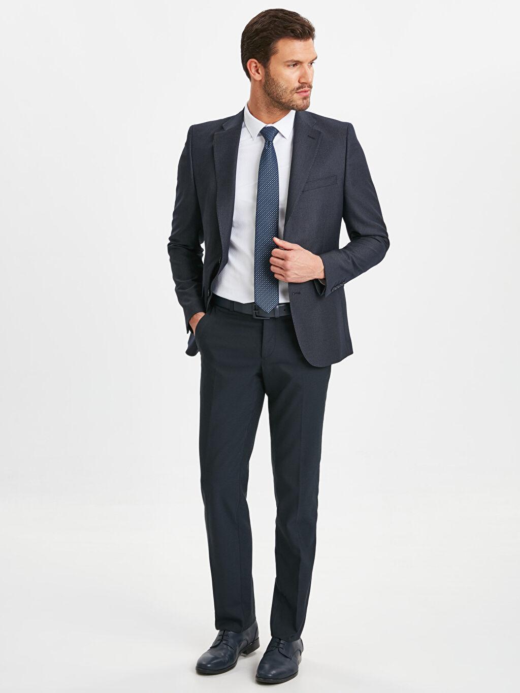Erkek Dar Kalıp Takım Elbise Ceketi