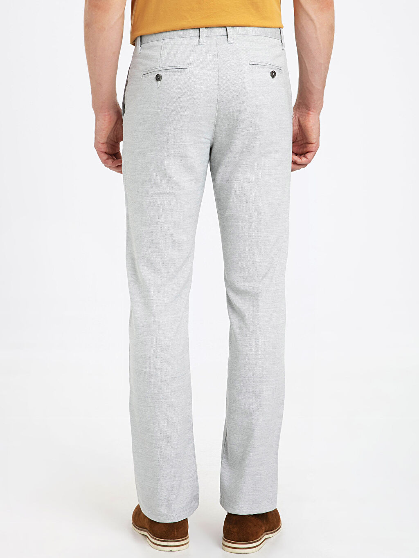 Erkek Regular Fit Dokulu Pantolon