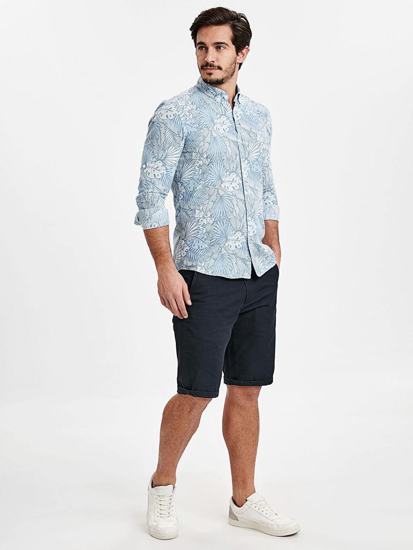 Mavi Skinny Fit Bermuda Şort 9SM402Z8 LC Waikiki