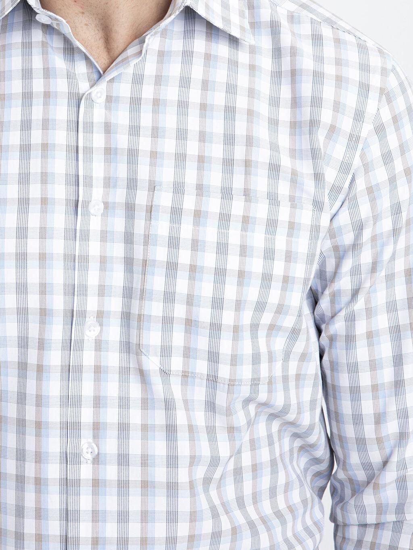 LC Waikiki Bej Regular Fit Ekose Uzun Kollu Gömlek