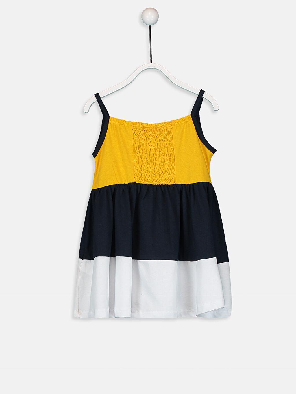 Kız Bebek Kız Bebek Baskılı Pamuklu Elbise