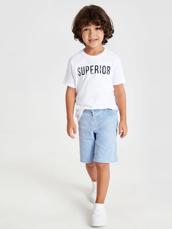 Erkek Çocuk Erkek Çocuk Yazı Baskılı Pamuklu Tişört