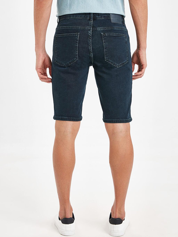 Erkek Skinny Fit Bermuda Jean Şort